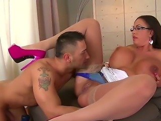 Busty slut Emma Butt gets nailed and made to moan of pleasure during intense hardcore