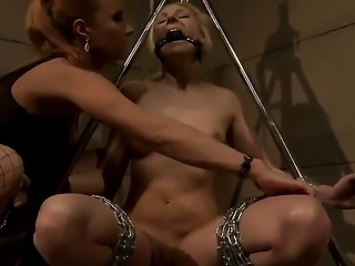 Amazing and crazy BDSM scene with horny lesbians named Ary and Katy Parker