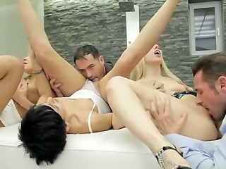 enjoy group sex scene with Coco de Mal, David Perry, Irina Bruni, James Brosman and Markus,Nesty