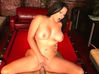 Chick with massive boobs Sophia Lomeli gonna get banged so hard right here, right in this cool porn scene that you should watch! She has oral and vaginal sex with man.
