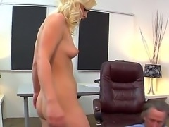 Sexy gorgeous blonde babe has a story to tell as her juicy sizzling cunt is...