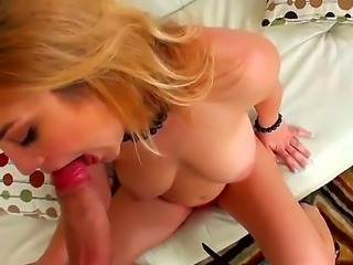 Busty blonde babe Courtney Shea enjoys having hunk Jmac drilling her with that long cock