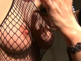 A mistress decides to punish a gal friend chaining and toying her mouth with a toy.