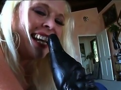 Sexy lady with natural boobs fucking herself with a toy feeling hot.