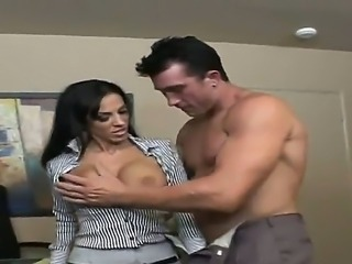 Sexy boss Billy Glide having fun with his ultra sexy and busty secretary...