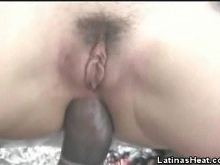 We have this naughty latina coed babe in this clip as she get her holes stuffed with our studs cock. Watch as she enjoys that butt plugging from our man as she moans in pleasure