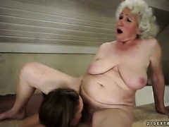 Brunette hooker Norma with juicy jugs is on the edge of nirvana after lesbian...