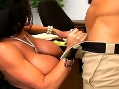Hungry Johnny Sins has never tasted massive tits before and Lisa Lipps has...