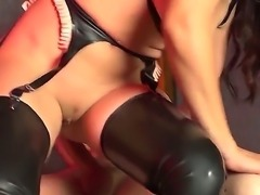 Huge cock of Danny D is penetrating deep inside of mouth, snatch and anal...