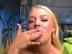Getting cumshot in her mouth gives sweet blonde Alexis Monroe wild ecstatic pleasures