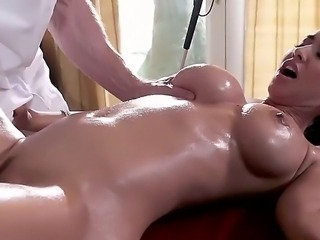 Stunning sexy milf Isis Love with big jaw dropping tits and round bouncing...