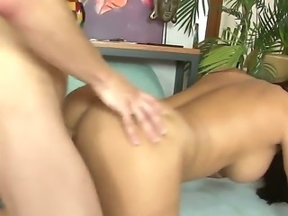 Big tits Mackenzee Pierce gets a deep doggystyle drilling session from horny...