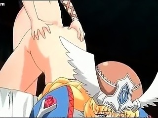 Horny anime shemale enjoying pussy