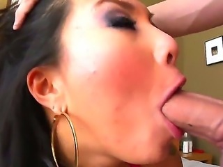 Hot and really nice blowjob from a horny Asian slut whose name is Asa Akira