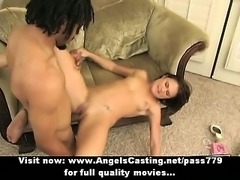 Passionate brunette fucked hard by rasta guy in extreme positions