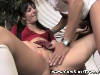 Cumshot loving amateur gets huge facial and cant get enough