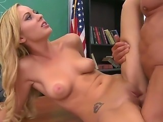 Lovely Mae Mayers gets her pussy dripping with wetness from Peter Norths...