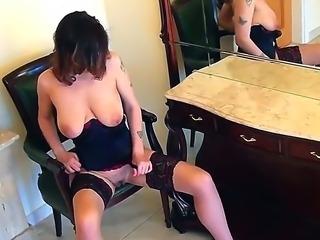 Huge Blonde Yasmin Fields touching her wet cum pit slowly feeling to cum.