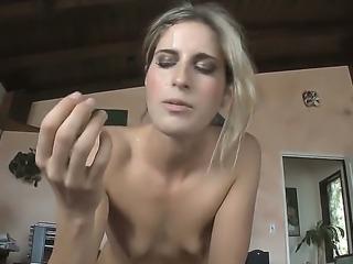 Naughty and beautiful babe Kara Price demonstrates her deep throat skills