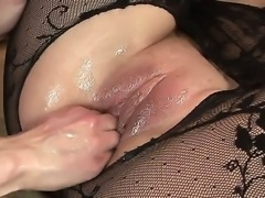 Hardcore fisting scene with a horny lesbian bitch Sheala Brill and her...