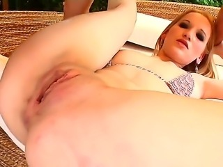 Enjoy amazing blonde whore Lorena getting fucked by Nick Lang and Frank Major