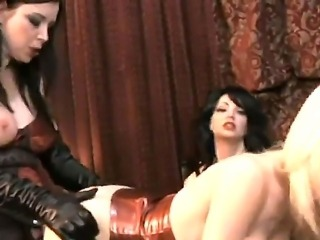 Sexy gorgeous lesbian babes have a good time as they suck cunt and fuck passionately