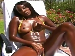 Arousing ebony Gentilly loves having hunk Reno pounding that big ass and...