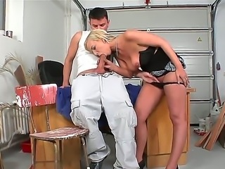 Amazing and hot blowjob for a lucky fucker whose name is Ricky Silverado