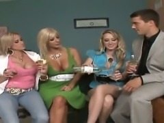 Look at Alana Evans, Kylie, Puma Swede and Ramon Nomar in group sex scene