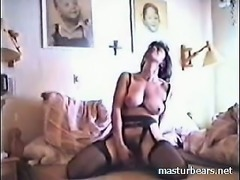 Spanish Mom Inez toying her pussy at home