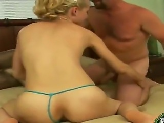 Blonde milf Ashden enjoys getting her poke holes licked before being pounded hard