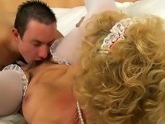 Grandma Effie is on cloud nine now after getting wild pussy licking from...