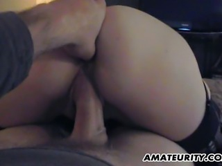A cute blonde amateur girlfriend homemade suck and fuck action with cumshot in her mouth ! Wonderful ass !
