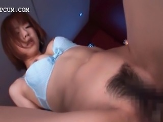 Redhead sassy japanese babe jumping craving pecker with lust