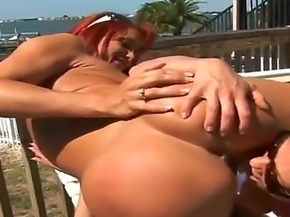Amateur outdoor action with sexy friends named Brianna Ray, Nakita and Shayla