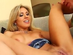 Delicious glamourous blonde babe Aubrey Addams getting fucked by awesome Bill...