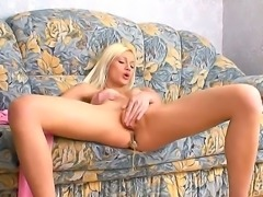 Sexy and cute girlfriend Allysah uses her favorite toys for an amazing...