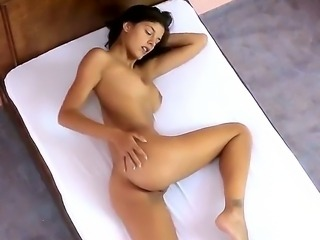 Hot Candice Luca massaging her wet punana with her fingers.