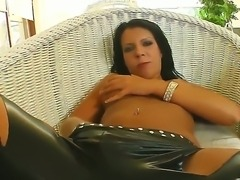 Sexy Chloe gives sucks ger guys cock dry and she is pounded hard in her tight...