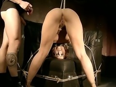 Take a look at amazing babe Andy Brown enjoying bdsm hard fuck