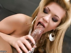 Blonde Bibi Noel is too horny to stop fucking in interracial hardcore action