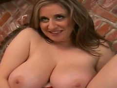 Amazing scene with a lucky boy Bob rubs Kitty Lees boobs and gets pleasure