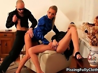 Sexy blonde whore gets her cunt fucked