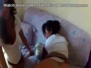 Mom talks daughter into fucking dad - HornBunny.com free