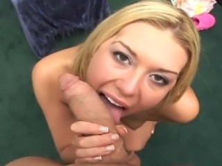 Blonde starved for dick and sperm
