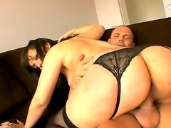Black haired cheating wife Mara Lopez with long whorish nails and huge...