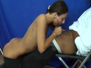 Abbie does her first blowjob on camera!