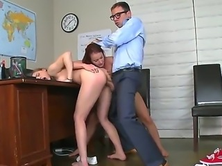 Sara got caught cheating and somehow that ended up with the teacher fucking...