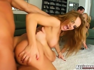 Behold the ultimate Allinternal combination: Brittney and Bonnie. We start off with some anal milk squirting and move into some double pussy and double penetration. We get an amazing multiple anal creampie eatout