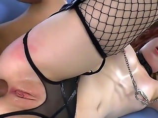 Mr. Pete stuffs butthole of cute redhead girl Sadie Kennedy by dildo first of...